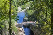 Pont du diable thueyts France — Stock Photo