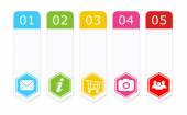 Set of colorful buttons for Web page menu, marketing or presentations — Stock Photo