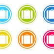 Set of rounded colorful icons with luggage symbol — Stock Photo #54702073