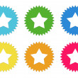 Set of colorful stickers icons with star symbol — Stock Photo #62180415