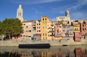 View of the city of Girona in Spain — Stock Photo