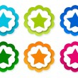 Set of colorful stickers icons with star symbol — Stock Photo #63165055