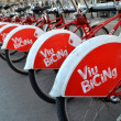 Some bicycles of the bicing service in Barcelona, Spain — Stock Photo #64237377