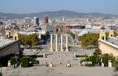 View from Montjuic of Barcelona, Spain — Fotografia Stock