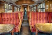 Inside old railroad carriage — Fotografia Stock