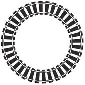 Circular railroad track — Stock Photo