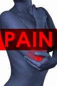 A man holding his elbow. Pain in the elbow joint.Pain. — Stock Photo