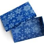 Empty gift blue box — Stock Photo #59651693