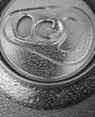 Aluminum can closeup — Stock Photo