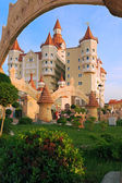Hotel complex Bogatyr styled medieval castle — Stock Photo