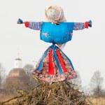 Kostroma or straw Lady Maslenitsa during winter Maslenitsa carni — Stock Photo #65535509