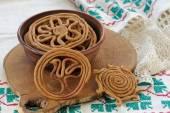 Teterki, Russian rye cookies for spring equinox selebration — Stock Photo