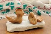Zhavoronki, Russian rye cookies for spring equinox selebration — Stock Photo