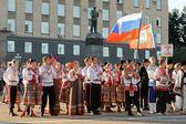 Orel, Russia, August 4, 2015: Orlovskaya Mozaika folk festival, — Stock Photo