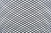 Beyaz bir arka planda kesintisiz siyah mesh — Stok fotoğraf