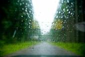 Driving in the rain  — Stock Photo