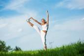 Fitness žena — Stock fotografie