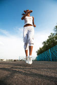 Sport woman training — Stock Photo