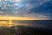 Sunset on sea  — Stock Photo