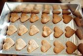 Heart-shaped cookies  — Stock Photo