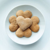 Pile of cookies on a plate — Stock Photo