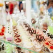 Different cakes on banquet table — Stock Photo #58133323