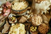 Abundance of food on the table — Stock Photo