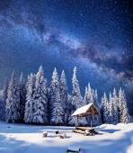 Fantastic milky way in the New Year's Eve — Stock Photo