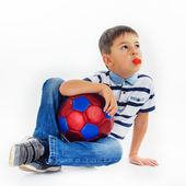 Ball and boy — Stock Photo
