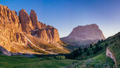 Rocky Mountains at sunset.Dolomite Alps, Italy — Stock Photo