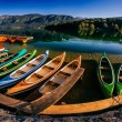 Pleasure boats at lake — Stock Photo #68090899