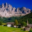 Panoramic view of idyllic summer landscape in the Alps — Stock Photo #68104183