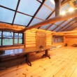 Cozy veranda in wooden house — Stock Photo #54066389