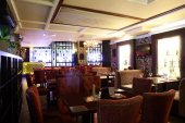 European restaurant in bright colors — Foto de Stock