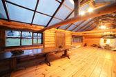 Cozy veranda in wooden house — Foto Stock