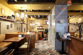 European restaurant in bright colors — Zdjęcie stockowe