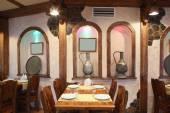 ресторан европейской кухни в ярких цветах — Стоковое фото