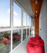 Nice interior of modern balcony — Stock Photo