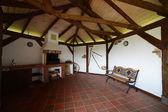 útulné veranda v dřevěném domě — Stock fotografie