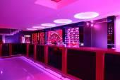 Krásné evropské noční klub interiér — Stock fotografie