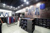 Brand new interior of cloth store — ストック写真