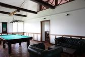 Interior of beautiful and modern billiard — Stock Photo