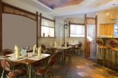 European restaurant in bright colors — Stock Photo