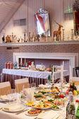 Evropské restaurace v jasných barvách — Stock fotografie