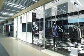 Okno krásných evropský obchod — Stock fotografie
