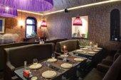 Restaurante europeo en colores brillantes — Foto de Stock
