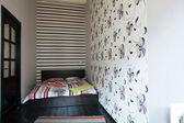 Nice interior of european bedroom — 图库照片