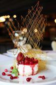 Fresh cream and berry desert — Stock Photo