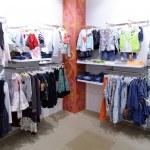 Brand new interior of kids cloth store — Stock Photo #60279169