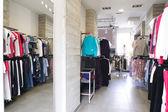 Novo interior da loja de pano — Fotografia Stock